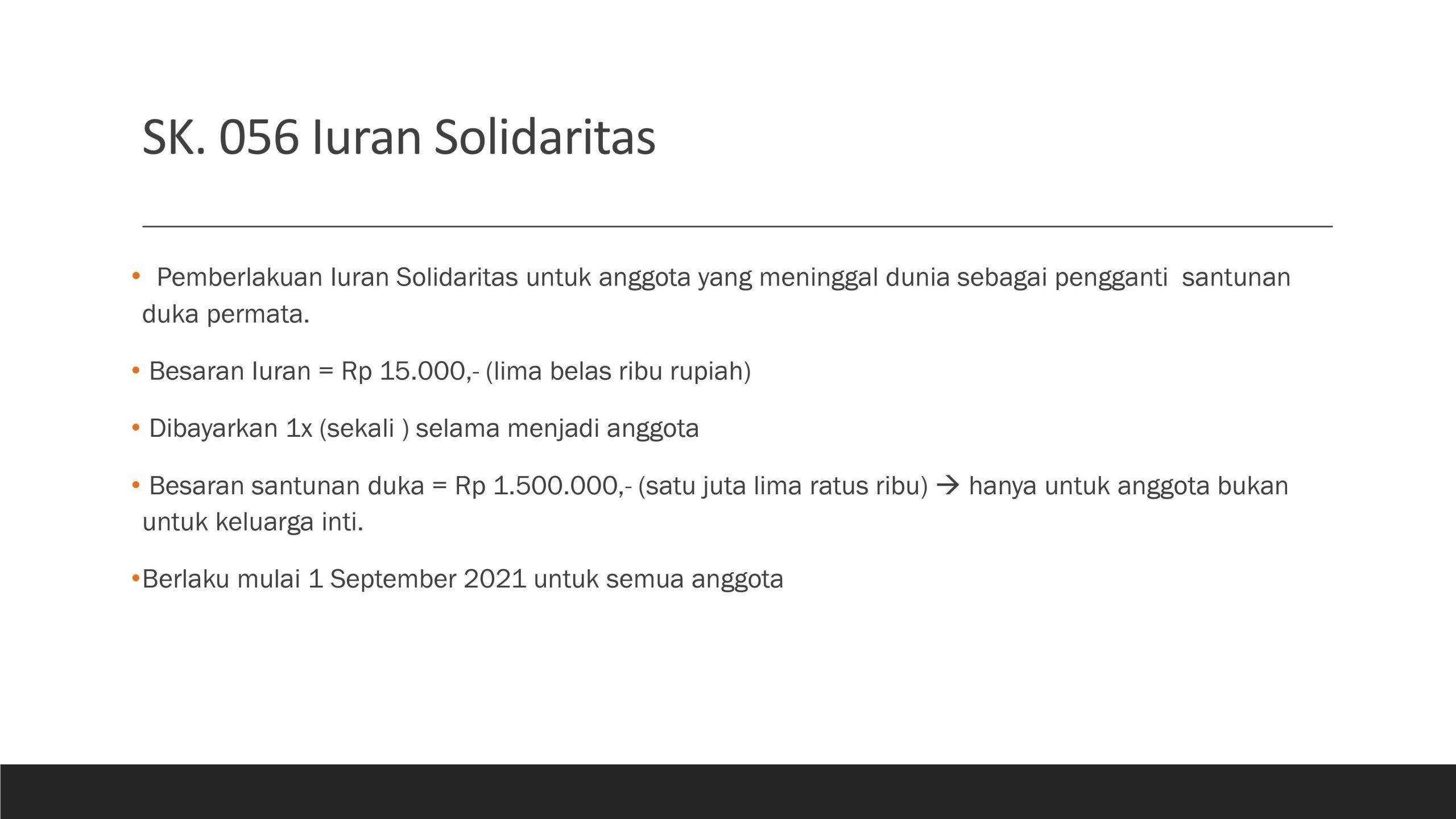 Perhitungan Solidaritas Duka